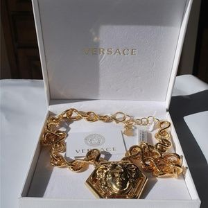 Versace haas brothers oversized large necklace new